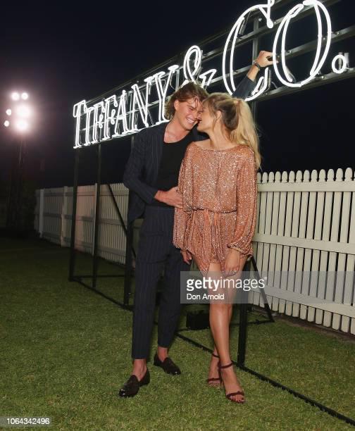 Jordan Barrett and Cheyenne Tozzi attend the Tiffany Co Start of Summer Party on November 22 2018 in Sydney Australia