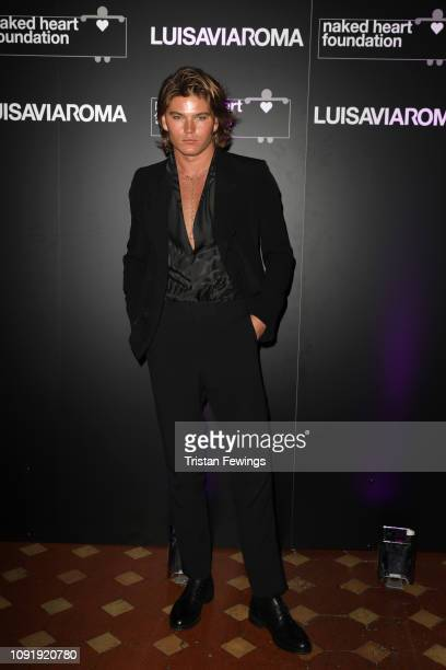 Jordan Barrett attends LuisaViaRoma and Naked Heart Foundation Dinner on January 09 2019 in Florence Italy