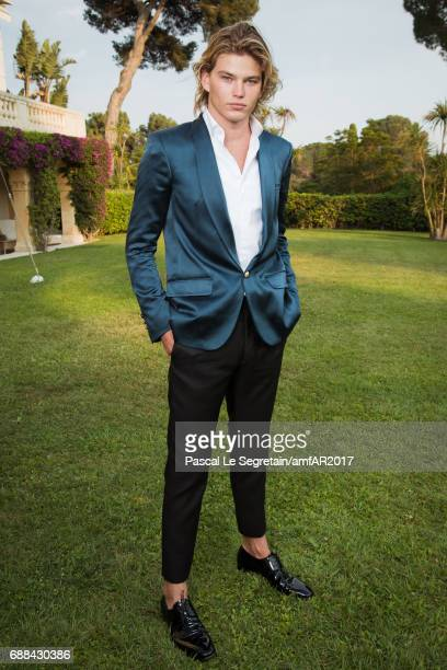 Jordan Barrett attends the amfAR Gala Cannes 2017 at Hotel du CapEdenRoc on May 25 2017 in Cap d'Antibes France