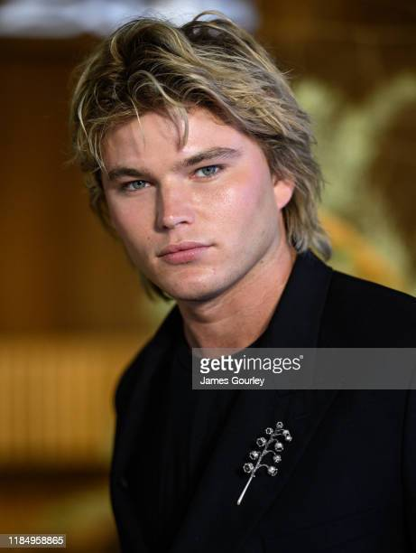 Jordan Barrett attends the Lexus Marquee during Derby Day at Flemington Racecourse on November 02, 2019 in Melbourne, Australia.