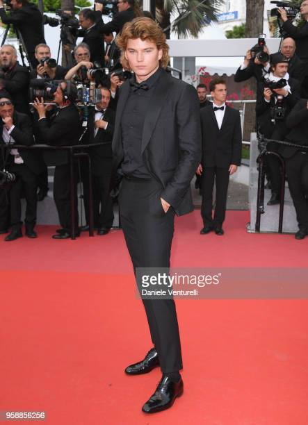 Jordan Barrett attends the screening of Solo A Star Wars Story during the 71st annual Cannes Film Festival at Palais des Festivals on May 15 2018 in...