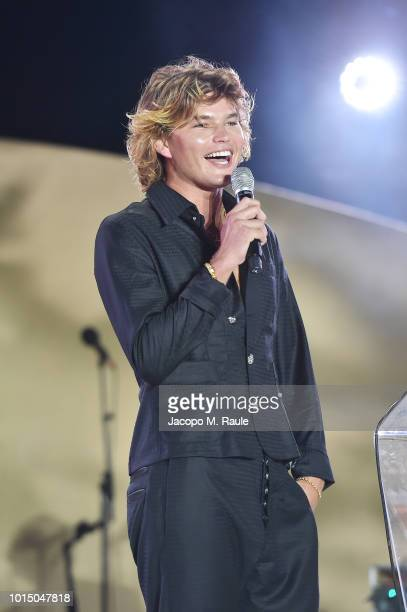 Jordan Barrett attends the Unicef Summer Gala Presented by Luisaviaroma afterparty at Villa Violina on August 10 2018 in Porto Cervo Italy