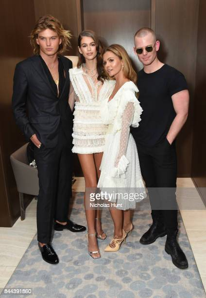 Jordan Barrett Kaia Gerber Elizabeth Sulcer and Trent Axelson attend the Daily Front Row's Fashion Media Awards at Four Seasons Hotel New York...