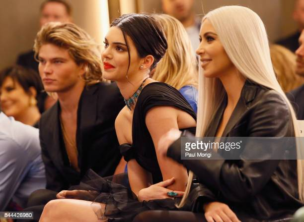 Jordan Barrett Kendall Jenner and Kim Kardashian West attend the Daily Front Row's Fashion Media Awards at Four Seasons Hotel New York Downtown on...