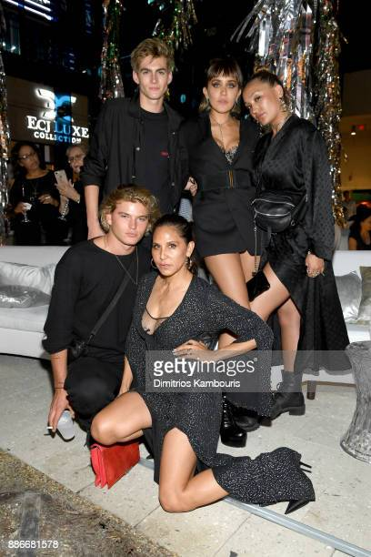 360d15fdfa0 Jordan Barrett Presley Gerber Jesse Jo Stark Alana O Herlihy and Laurie  Lynn Stark attend. Chrome Hearts Celebrates Art Basel With Laduree   Sean  Kelly ...