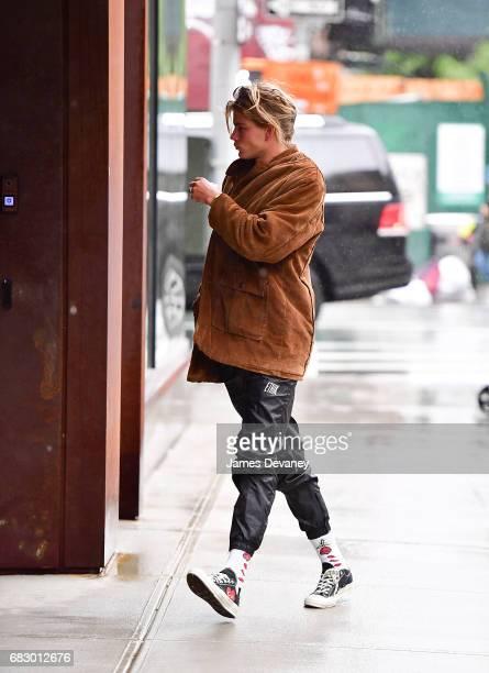 Jordan Barrett seen on the streets of Manhattan on May 13 2017 in New York City