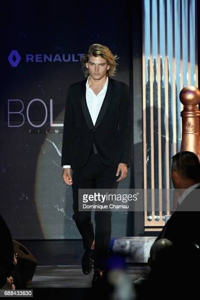 Jordan Barrett wearing Givenchy walks the runway at the amfAR Gala Cannes 2017 at Hotel du CapEdenRoc on May 25 2017 in Cap d'Antibes France