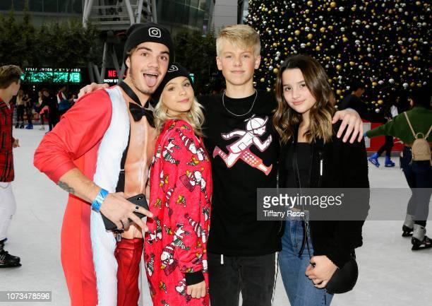 Jordan Beau Jordyn Jones Carson Luders and Annie Leblanc attend Instagram's #Instaskate 2018 at LA Kings Holiday Ice LA Live on November 27 2018 in...