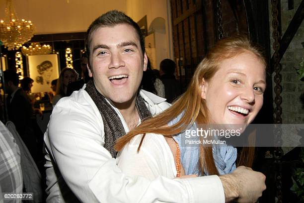 Jordan Beaver and Maisie Hughes attend RUFFIAN Hosts Fundraiser for DAVID FOOTE's 'New Girls' Exhibition at L Gallery Studio on April 2 2008 in New...