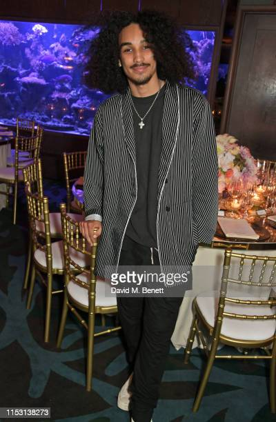 Jordan Beckford attends the launch of Wonderland Magazine's Summer 2019 issue at Sexy Fish on July 1 2019 in London England