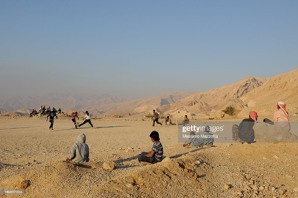 Jordan - Bedouin camp along the road 50 : Stock Photo