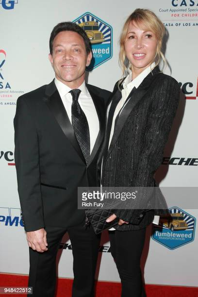Jordan Belfort and Anne Koppe attend the CASA Of Los Angeles' 2018 Evening To Foster Dreams Gala at The Beverly Hilton Hotel on April 18 2018 in...