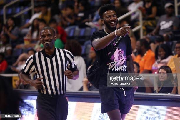 Jordan Bell attends Jordan Bell Hosts 1st Annual Celebrity Basketball Game Benefitting Race To Erase MS at California State University Long Beach on...