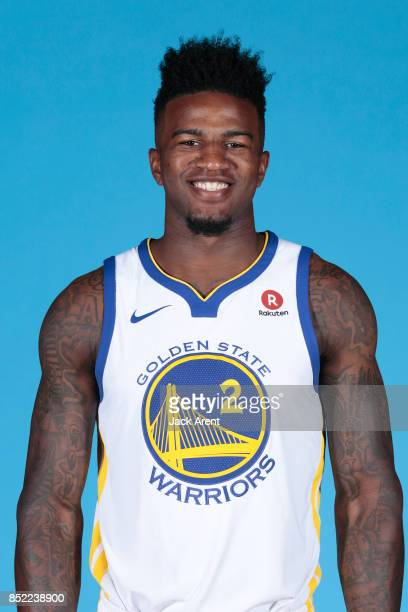 Jordan Bell of the Golden State Warriors poses for a head shot during media day on September 22 2017 at Oracle Arena in Oakland California NOTE TO...