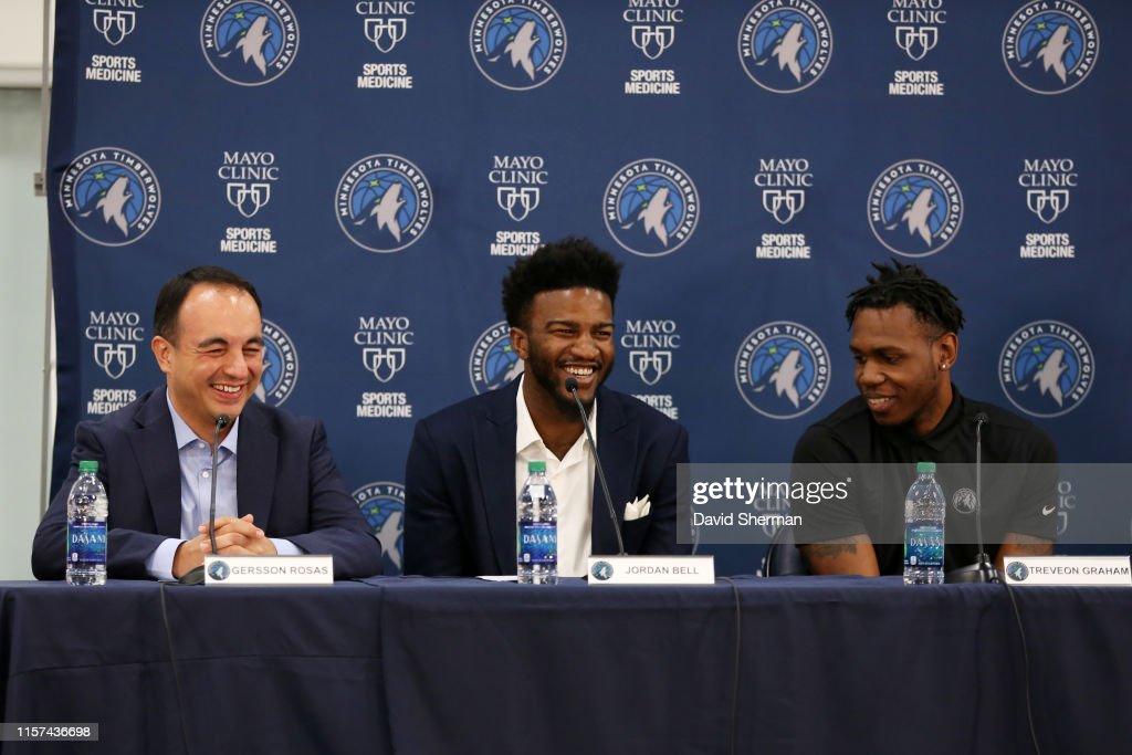 Minnesota Timberwolves Introduce New Players : News Photo