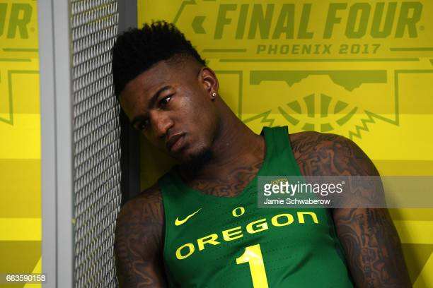 Jordan Bell of the Oregon Ducks reacts to the loss in the locker room during the 2017 NCAA Photos via Getty Images Men's Final Four Semifinal against...