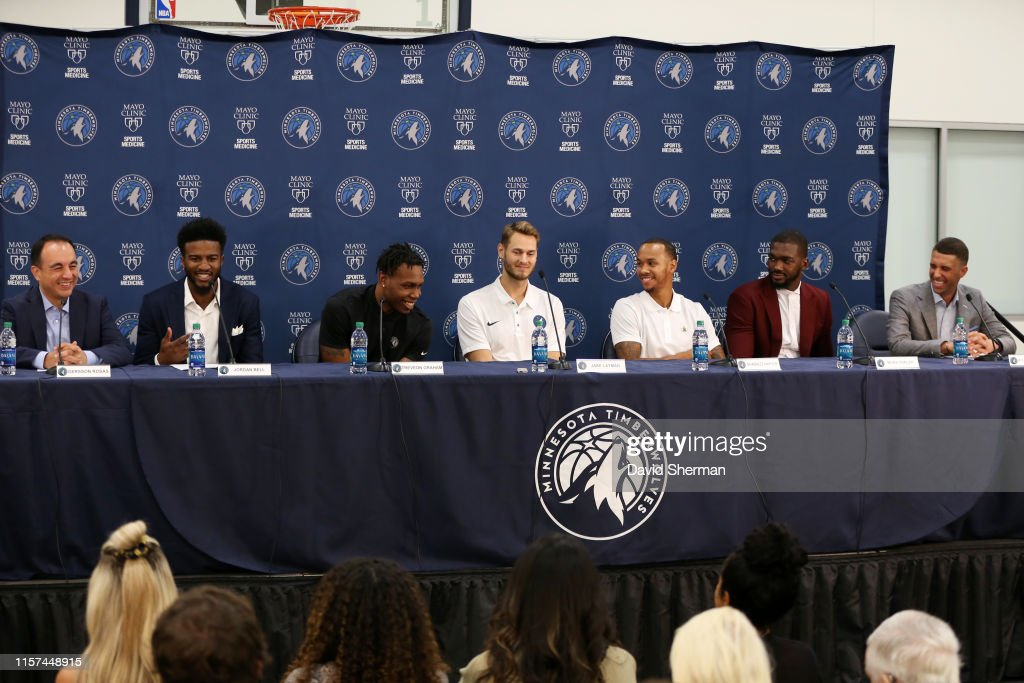 Minnesota Timberwolves Introduce New Players : News Photo