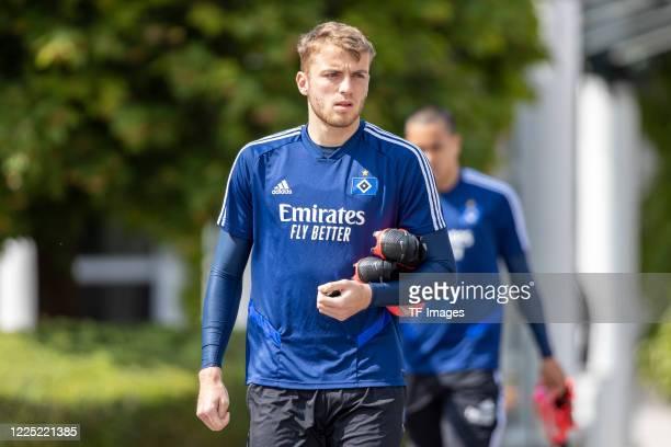 Jordan Beyer of Hamburger SV during the training session of Hamburger SV on May 15 2020 in Herzogenaurach Germany