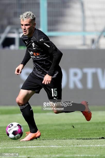 Jordan Beyer of Moenchengladbach runs with during the pre-season friendly match between Borussia Monechengladbach and SpVGG Fuerth at Borussia-Park...