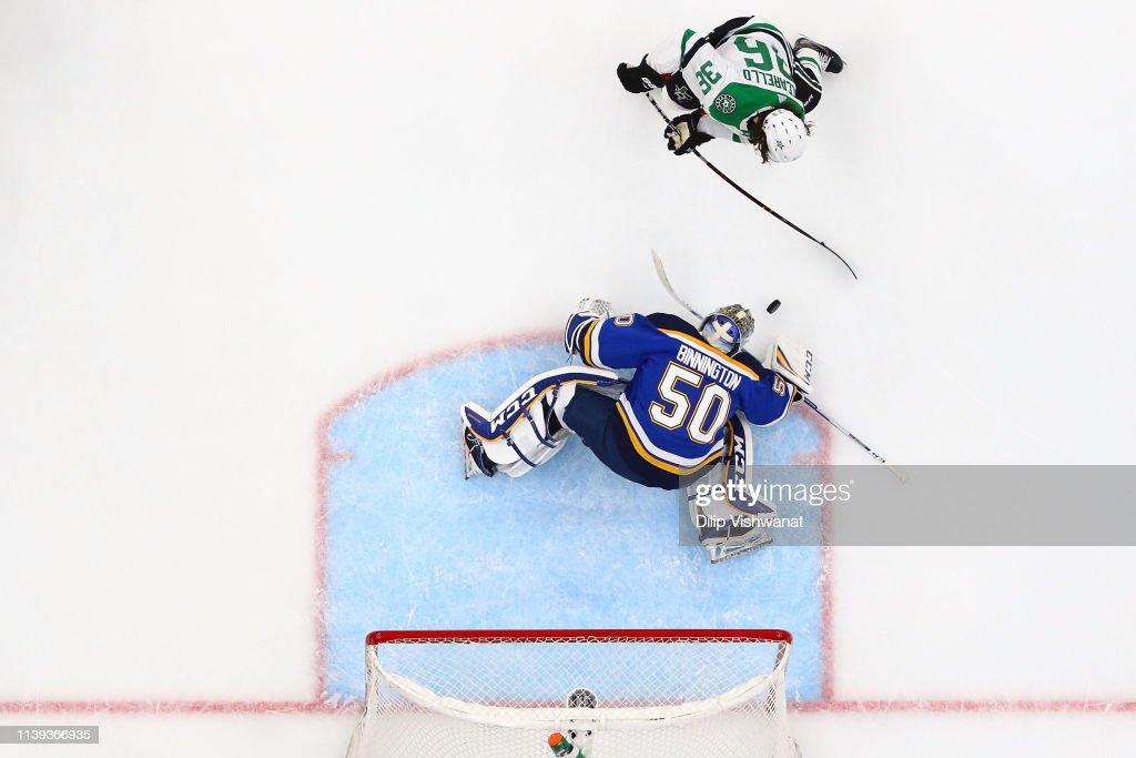 Dallas Stars v St Louis Blues - Game One : News Photo
