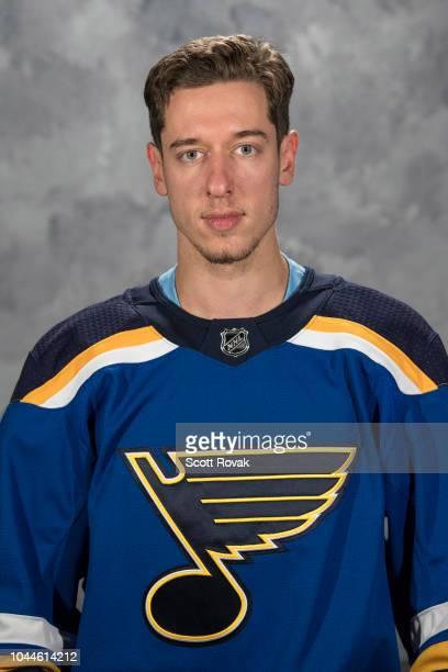 Jordan Binnington of the St Louis Blues poses for his official headshot for the 20182019 season on September 13 2018 in St Louis Missouri