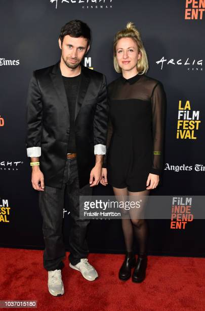 Jordan Blady and Catherine Morawitz attend 2018 LA Film Festival Opening Night Premiere Of 'Echo In The Canyon' at John Anson Ford Amphitheatre on...
