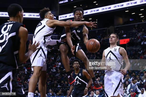 Jordan Brand Classic Away Team guard Javonte Smart during the second half of the Jordan Brand Classic on April 8 at the Barclays Center in BrooklynNY