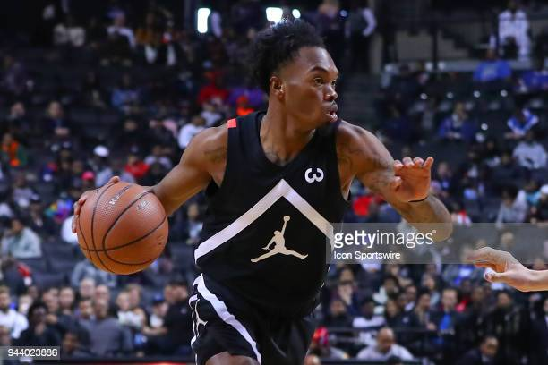 Jordan Brand Classic Away Team guard Javonte Smart during the second half of the Jordan Brand Classic on April 8 at the Barclays Center in Brooklyn NY