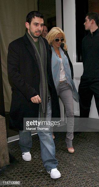 Jordan Bratman and Christina Aguilera during Celebrity Sightings in New York City March 22 2007 in New York City New York United States