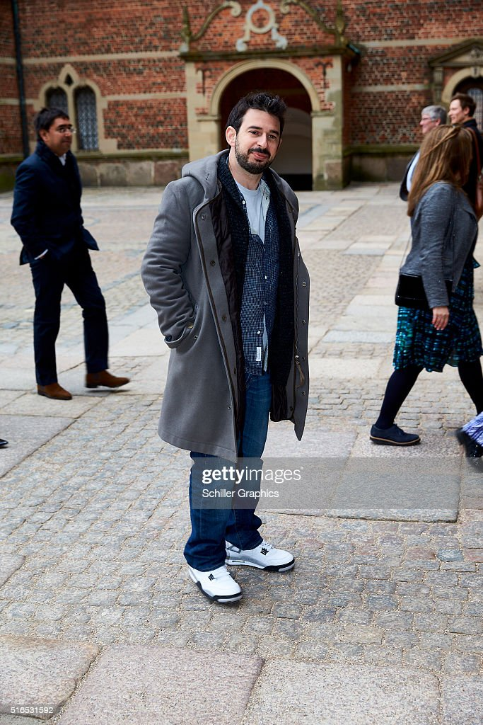 Jordan Bratman attends the 'Jonathan Yeo Portraits' exhibition opening at the Museum of National History at Frederiksborg Castle on March 19, 2016 in Hillerod, Denmark.