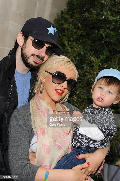 Jordan Bratman Christina Aguliera and son Max Liron Bratman attend The 3rd Annual Kidstock Music and Arts Festival at Greystone Mansion on May 31...