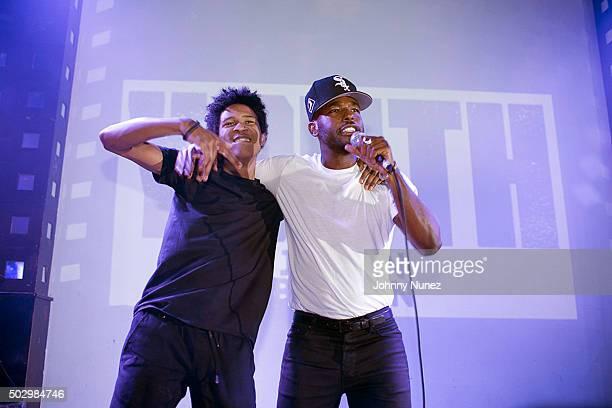 Jordan Bratton and Luke James perform at S.O.B.'s on December 30 in New York City.
