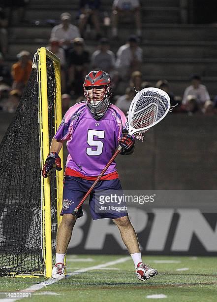 Jordan Burke of the Boston Cannons in action against the Long Island Lizards at Harvard Stadium June 9 2012 in Boston Massachusetts