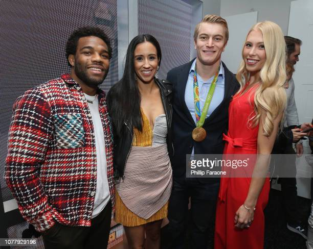 Jordan Burroughs Lauren Burroughs Connor Fields and Laura Gruninger attend The 6th Annual Gold Meets Golden Brunch hosted by Nicole Kidman and Nadia...