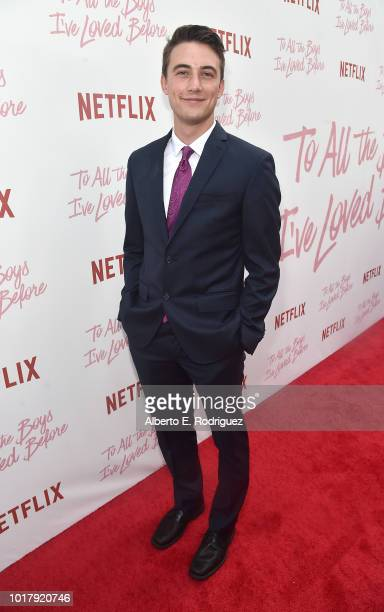 Jordan Burtchett attends a screening of Netflix's 'To All The Boys I've Loved Before' at Arclight Cinemas Culver City on August 16 2018 in Culver...