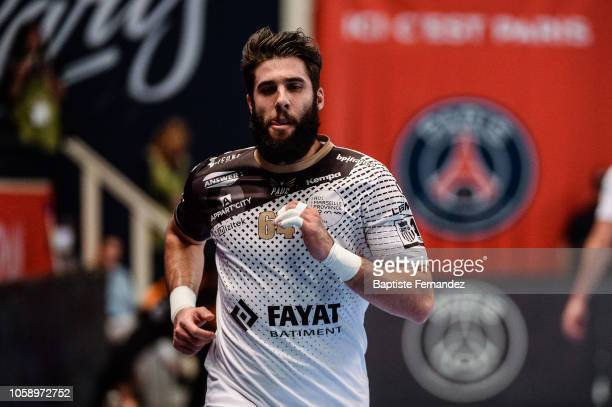 Jordan Camarero of Pays d'Aix Universite during the Lidl Starligue match between Paris Saint Germain and Pays d'Aix Universite Club at Stade Pierre...