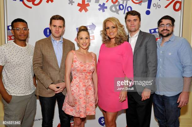 Jordan Carlos Guy Benson Ana Kasparian Scottie Nell Hughes Charlie Kirk and Trae Crowder at Politicon at Pasadena Convention Center on July 30 2017...