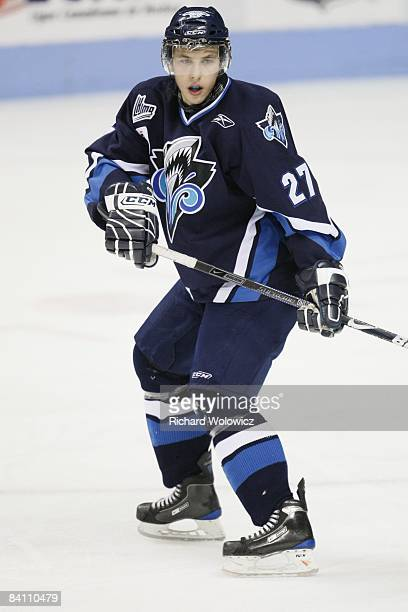 Jordan Caron of the Rimouski Oceanic skates during the game against the Quebec Remparts at the Colisee Pepsi on December 19, 2008 in Quebec City,...