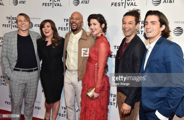 Jordan Christian Hearn Eva Vives Common Mary Elizabeth Winstead Sheldon White and Andrew Kai attend a screening of All About Nina during the 2018...