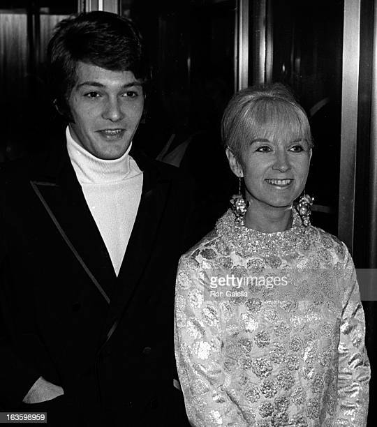 Jordan Christopher and Sybil Christopher attend Marlene Dietrich Opening Party on October 9 1967 at the Rainbow Room in New York City