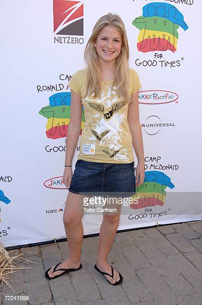 Jordan Claire Green poses for a picture at the Camp Ronald McDonald for kids 14th Annual Family Halloween Carnival at Universal Studios October 22...