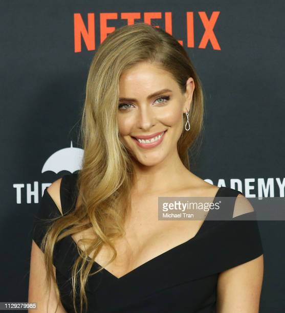 Jordan Claire Robbins attends the Los Angeles premiere of Netflix's The Umbrella Academy held at ArcLight Hollywood on February 12 2019 in Hollywood...