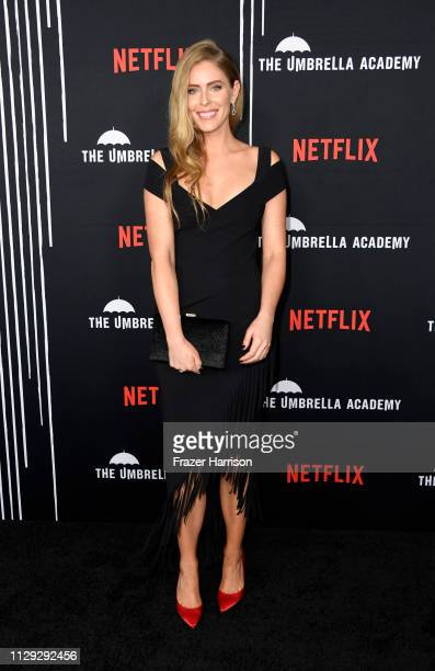 Jordan Claire Robbins attends the Premiere of Netflix's 'The Umbrella Academy' at ArcLight Hollywood on February 12 2019 in Hollywood California