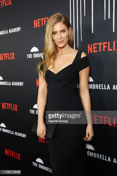 Jordan Claire Robbins attends The Umbrella Academy Premiere at Cinerama Dome on February 12 2019 in Hollywood California