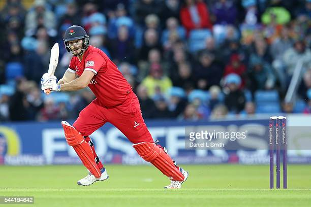 Jordan Clark of Lancashire Lightning bats during the NatWest T20 Blast match between Yorkshire Vikings and Lancashire Lightning at Headingley on July...