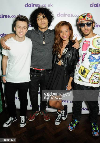 Jordan Clarke Corey Layzell Stephanie Edwards and Ben Francis aka rtizt of Luminites attend Claire's Halloween Party featuring a secret performance...