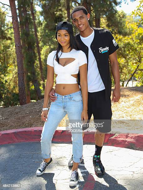 Jordan Clarkson and Chanel Iman are seen on August 15 2015 in Los Angeles California