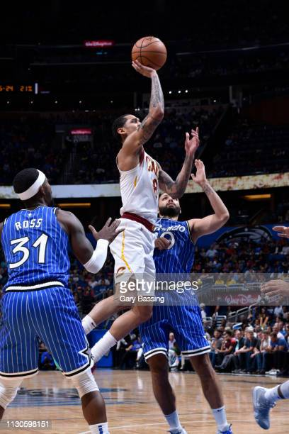 Jordan Clarkson of the Cleveland Cavaliers shoots the ball against the Orlando Magic on March 14 2019 at Amway Center in Orlando Florida NOTE TO USER...