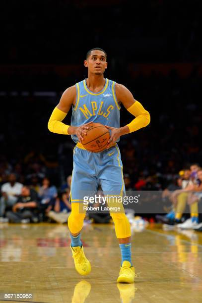 611ff53f8bcad6 Jordan Clarkson of the Los Angeles Lakers during the game against the Washington  Wizards on October