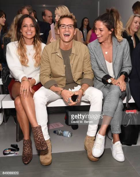 Jordan Collyer Oliver Proudlock and Loanne Collyer attends the Emilio De La Morena SS18 Catwalk Show at BFC Show Space on September 19 2017 in London...